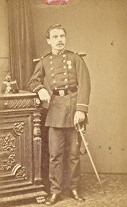 Paris Military Uniform France War Old CDV Photo 1870