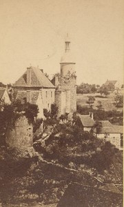 Bourbon l'Archambault Tower Fortress Old CDV Photo 1865