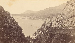 French Riviera Nice les Calanques France Old CDV Photo 1865