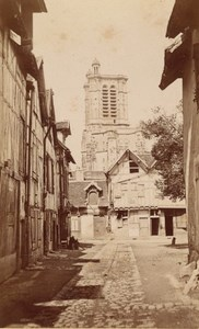 Troyes St Pierre St Paul Cathedral Old CDV Photo 1875