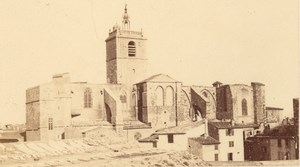 Narbonne Saint Paul Cathedral France Old CDV Photo 1870