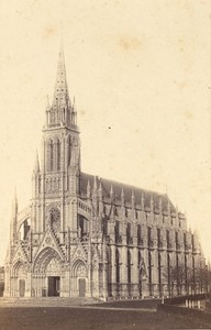 Trouville Church Calvados France Old CDV Photo 1875