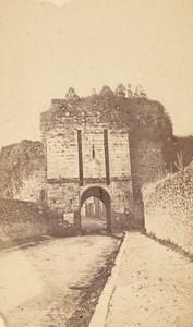 Dinan St Malo City Gate Cotes du Nord France CDV Photo 1875