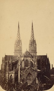 Quimper St Corentin Church Finistere Old CDV Photo 1865