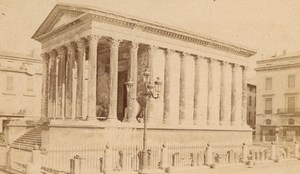 Nimes Maison Carree Gard France Old CDV Photo 1875