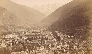 Luchon Panorama Haute Garonne France Old CDV Photo 1880