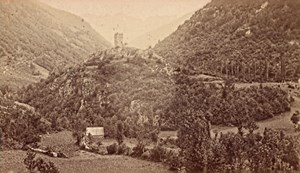Luchon Castel Vieil Haute Garonne France Old CDV Photo 1880
