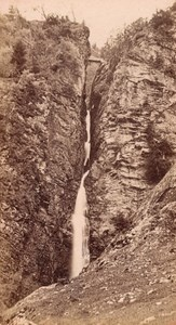 Luchon Waterfall Haute Garonne France Old CDV Photo 1880