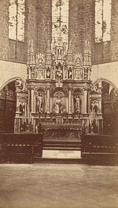 Saint Bertrand de Comminges Cathedral Old CDV Photo 1880