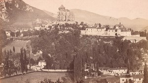 Saint Bertrand de Comminges Panorama Old CDV Photo 1880