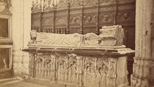 Saint Bertrand de Comminges Cathedral Tomb Old CDV Photo 1880