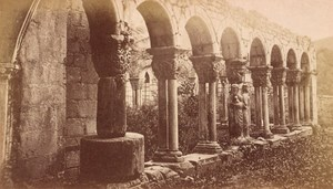 Saint Bertrand de Comminges Cloister Ruins Old CDV Photo 1880