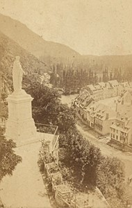 St Beat Panorama Virgin France Old CDV Photo 1880