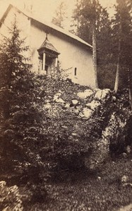 Grande Chartreuse Chapel Alps Old CDV Photo 1865