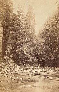 Grande Chartreuse River Peak Alps Old CDV Photo 1865