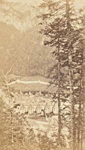 Grande Chartreuse Panorama Alps Old CDV Photo 1865
