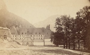 Grande Chartreuse Convent Alps Old CDV Photo 1865
