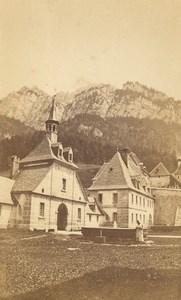 Grande Chartreuse Monk Fountain Alps Old CDV Photo 1876
