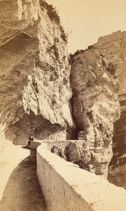 Pont en Royans Goulets Pass Isere Old CDV Photo 1865