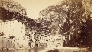 Pont en Royans La Bourne Isere Old CDV Photo 1865