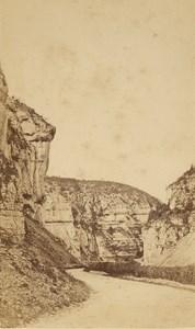 Engins Narrow Pass Bridge Isere Old CDV Photo 1870