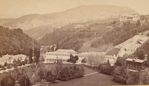 Uriage les Bains Panorama Isere Old CDV Photo 1870