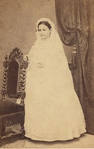 Oran Henriette Guenard Algeria Old CDV Photo 1870