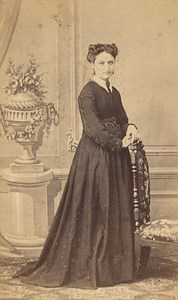 Oran Cecile Ripert Algeria Old CDV Photo 1870