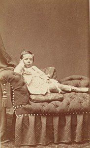 Germany Young Boy Seated Aachen Old CDV Photo 1875