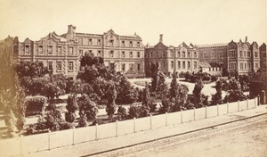Melbourne Hospital Australia old CDV Nettleton Photo 1870