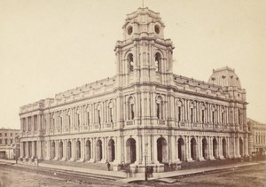 Melbourne Post Office Australia old CDV Nettleton Photo 1870