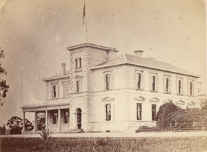 Melbourne Government House Australia old CDV Nettleton Photo 1870