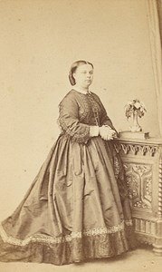 Belgium Brussels Woman Fashion Old CDV Photo 1865