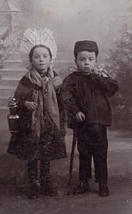 Belgium Brussels Humoristic Fashion Old CDV Photo 1890