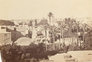 Egypt Cairo Panorama Old CDV Photo 1865