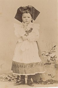 Child Costume Girl Scene de Genre France Old Delaporte Photo 1900