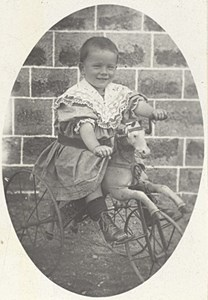 Toy Horse Child Boy Scene de Genre France Old Delaporte Photo 1900