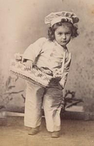 Baker Child Girl Scene de Genre France Old Delaporte Photo 1900
