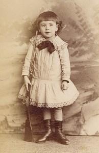 Gun Toy Child Boy Scene de Genre France Old Delaporte Photo 1900