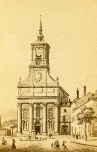 France Drawing of Le Havre Church old CDV Photo Morier 1865