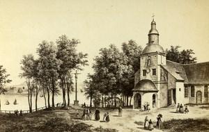 France Drawing Honfleur Chuch Notre Dame de la Grace CDV Photo Chevallier 1865