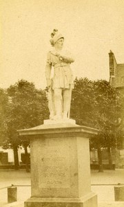 France Dinan Statue of Du Guesclin old CDV Photo Ordinaire 1870