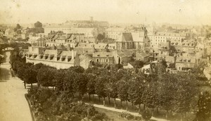 France Saint Brieuc Panorama old CDV Photo Paturel 1870
