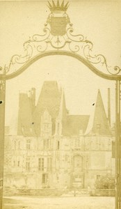 France Argentan Castle Gate old CDV Photo Cagnon 1870
