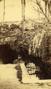 France Clermont Ferrand Petrifying Fountain old CDV Photo Sanitas 1870