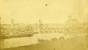 France Auxerre Panorama old CDV Photo Colombier 1870