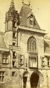 France Bourges House of Jacques Coeur old CDV Photo Poupat 1870