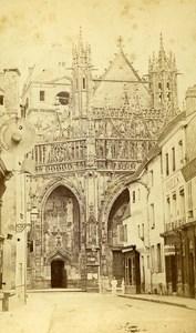 France Alencon Church Notre Dame old CDV Photo Provost 1870