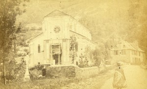 France Montauban de Luchon Church old CDV Photo Champeaux 1870