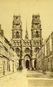 France Orleans Cathedral old CDV Photo Richou 1870